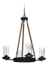 Craftmade 36124-ABZ - Thornton 4 Light Up/Down Chandelier in Aged Bronze