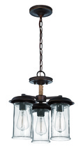 Craftmade 36153-ABZ - 3 Light Convertible Semi Flush/Pendant in Aged Bronze