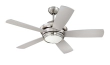 "Craftmade TMP44BNK5 - Tempo 44"" Ceiling Fan with Blades and LED Light Kit in Brushed Polished Nickel"