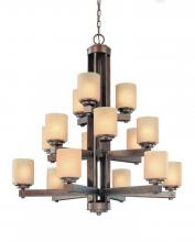 Dolan Designs 2703-90 - 15Lt 3Tier Chandelier