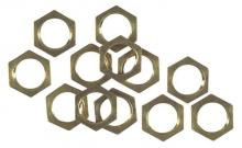 Westinghouse 7017200 - 12 Hex Nuts Solid Brass