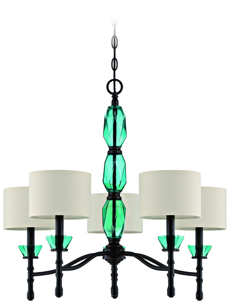 2 5 light chandelier in ravenu0027s wash