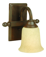 Jeremiah 15209AG1 - Madison 1 Light Wall Sconce in Aged Bronze Textured