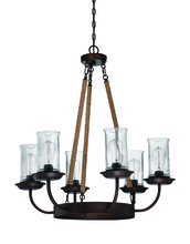Jeremiah 36126-ABZ - Thornton 6 Light Chandelier in Aged Bronze