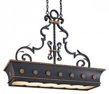 Minka Metropolitan n6107-20 - French Black W/gold Highlights Double French Scavo Glass Pool Table Light