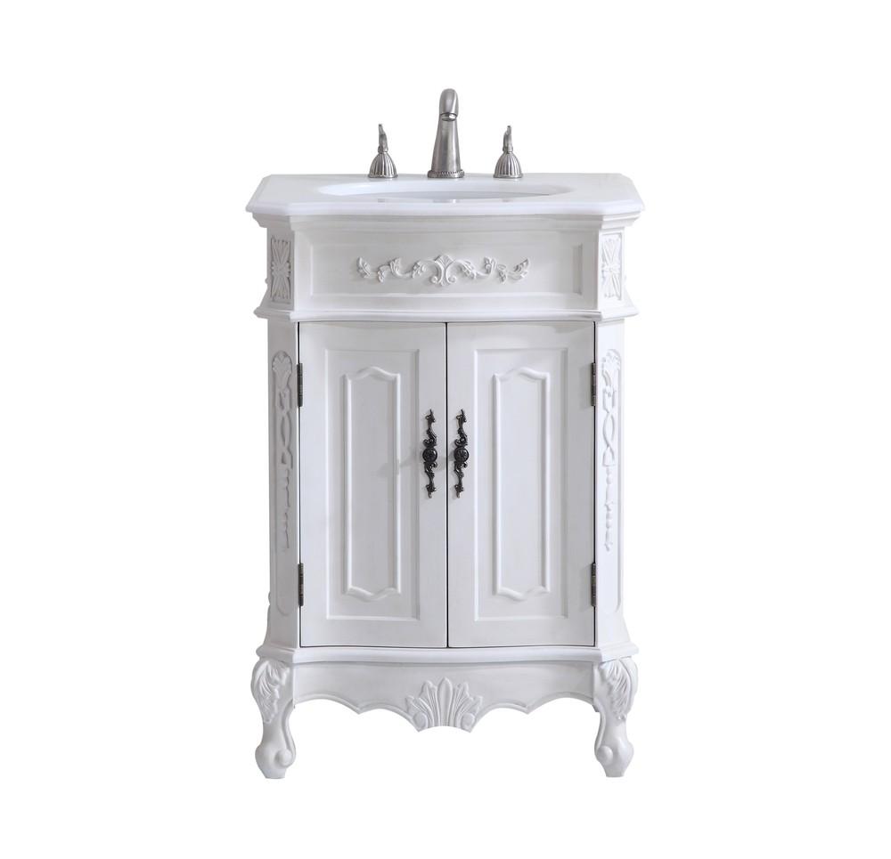 24 In Single Bathroom Vanity Set, Antique White Bathroom Vanity Lights