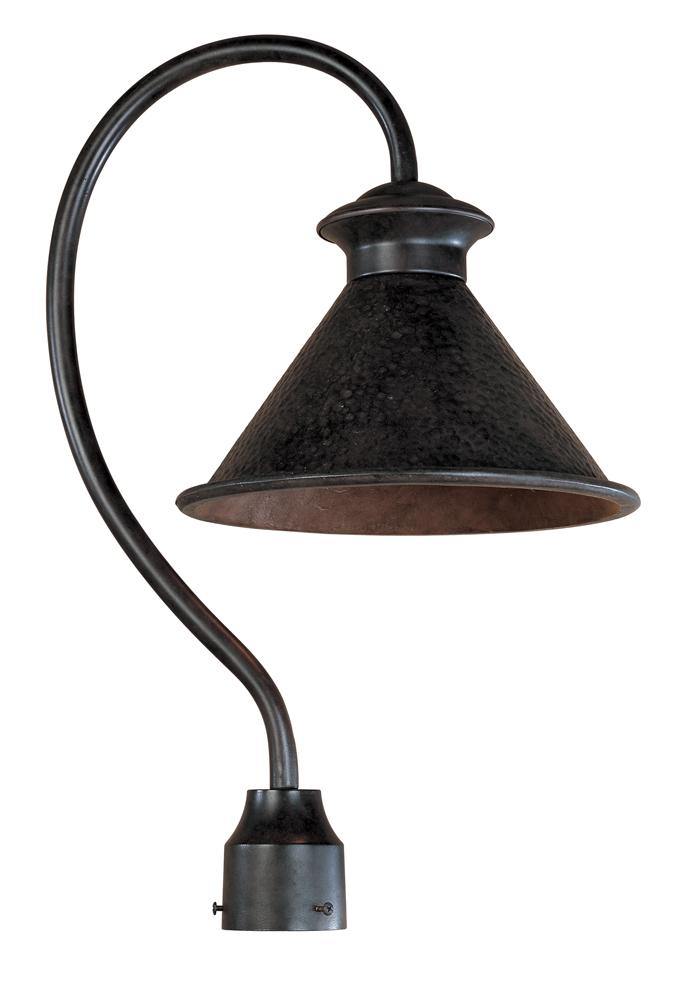 Dark Sky Essen 1 Light Outdoor Bronze Post Lamp Cruv